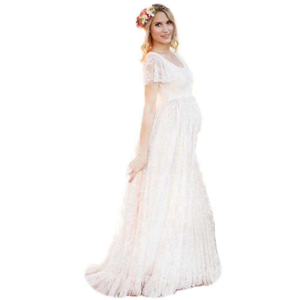 Photography maternity dress bridal gown chiffon lace long dress