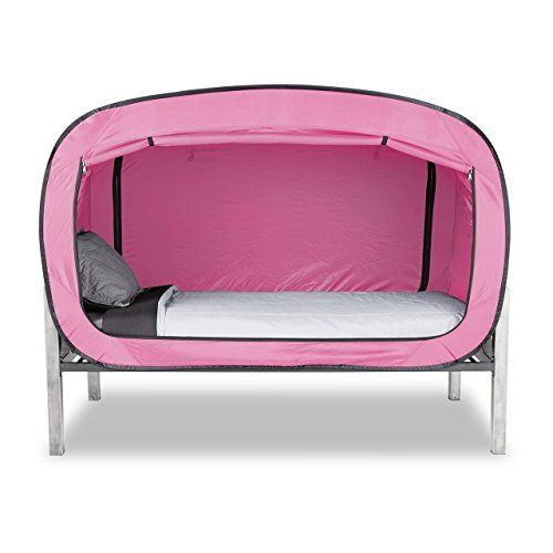 Indoor Privacy Tent On Bed Blackout Keep Warm Play Tent Medium Double Full Queen Bed Light Pink Bed Tent Privacy Pop Bed Tent Twin