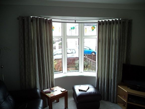 Bespoke Bay Window Curtain Pole Rod Track Rail Curved