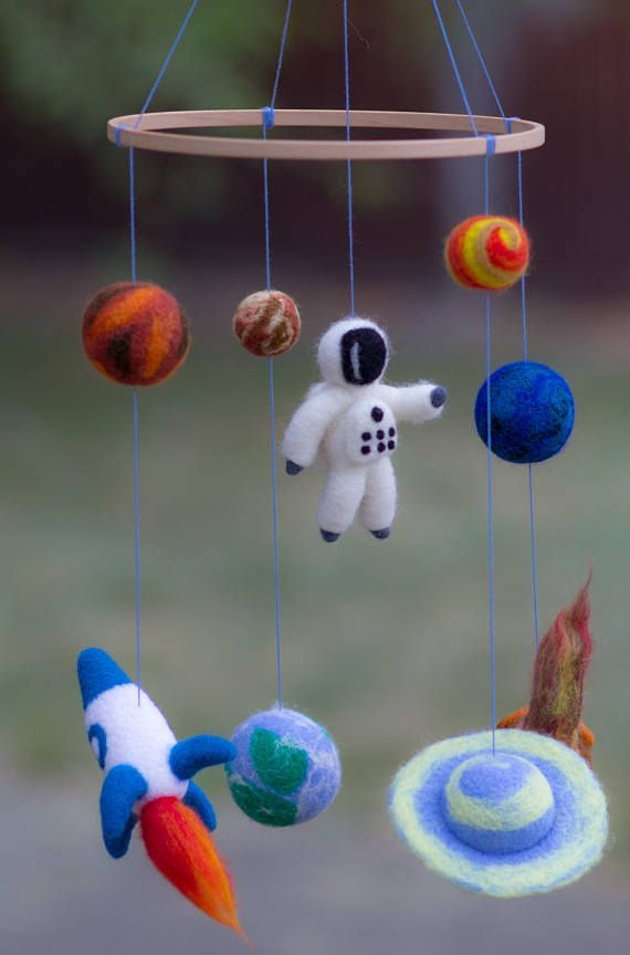 Baby Mobile Planets Mobile Baby Crib Mobile Solar Systems Mobile Space Nursery Mobile Earth Moon