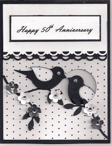 50th Anniversary Wedding Cards 50th Anniversary Cards Cards Handmade