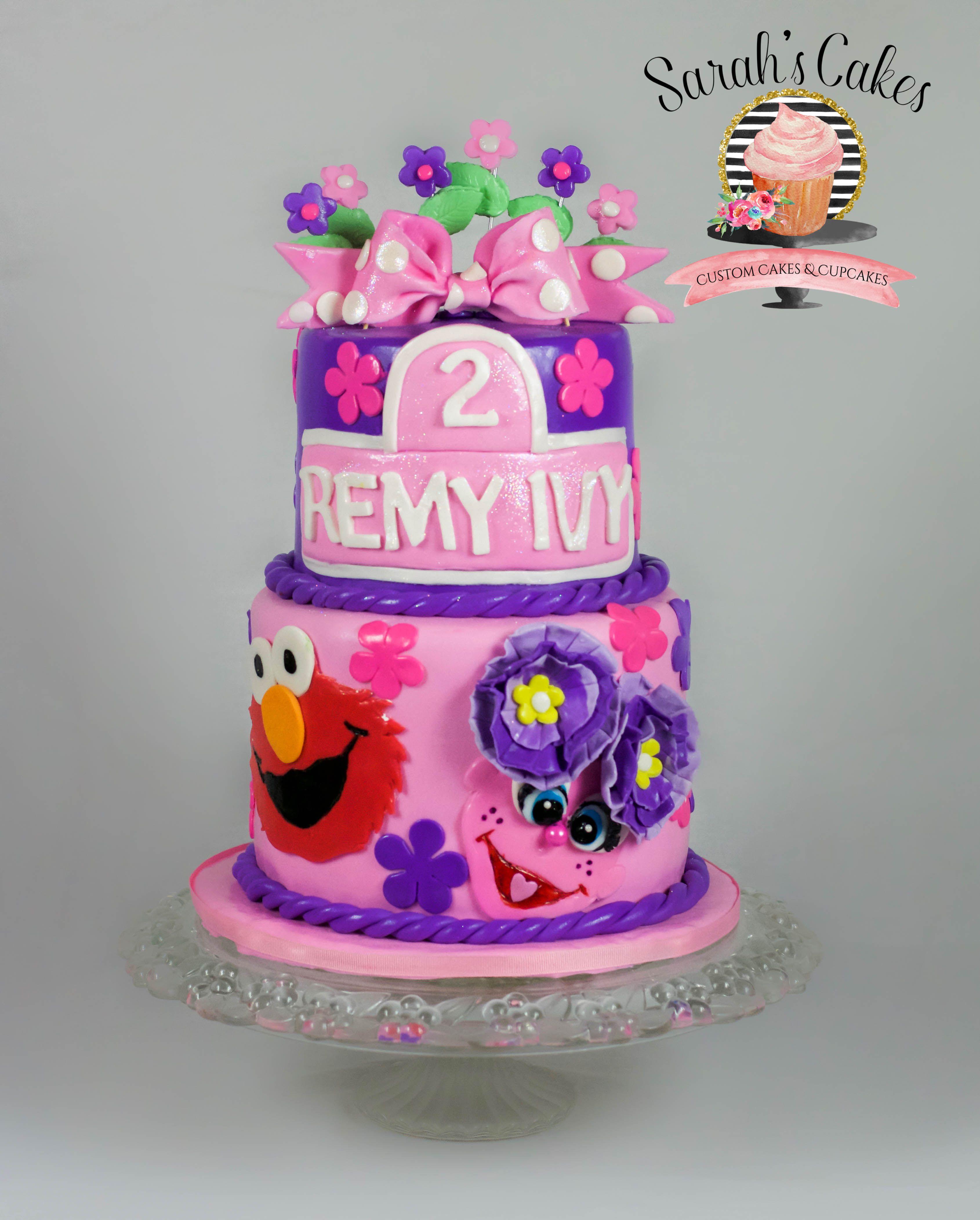 Tremendous Sesame Street Elmo Abby Abbycake Sesamestreetcake Elmocake Personalised Birthday Cards Veneteletsinfo
