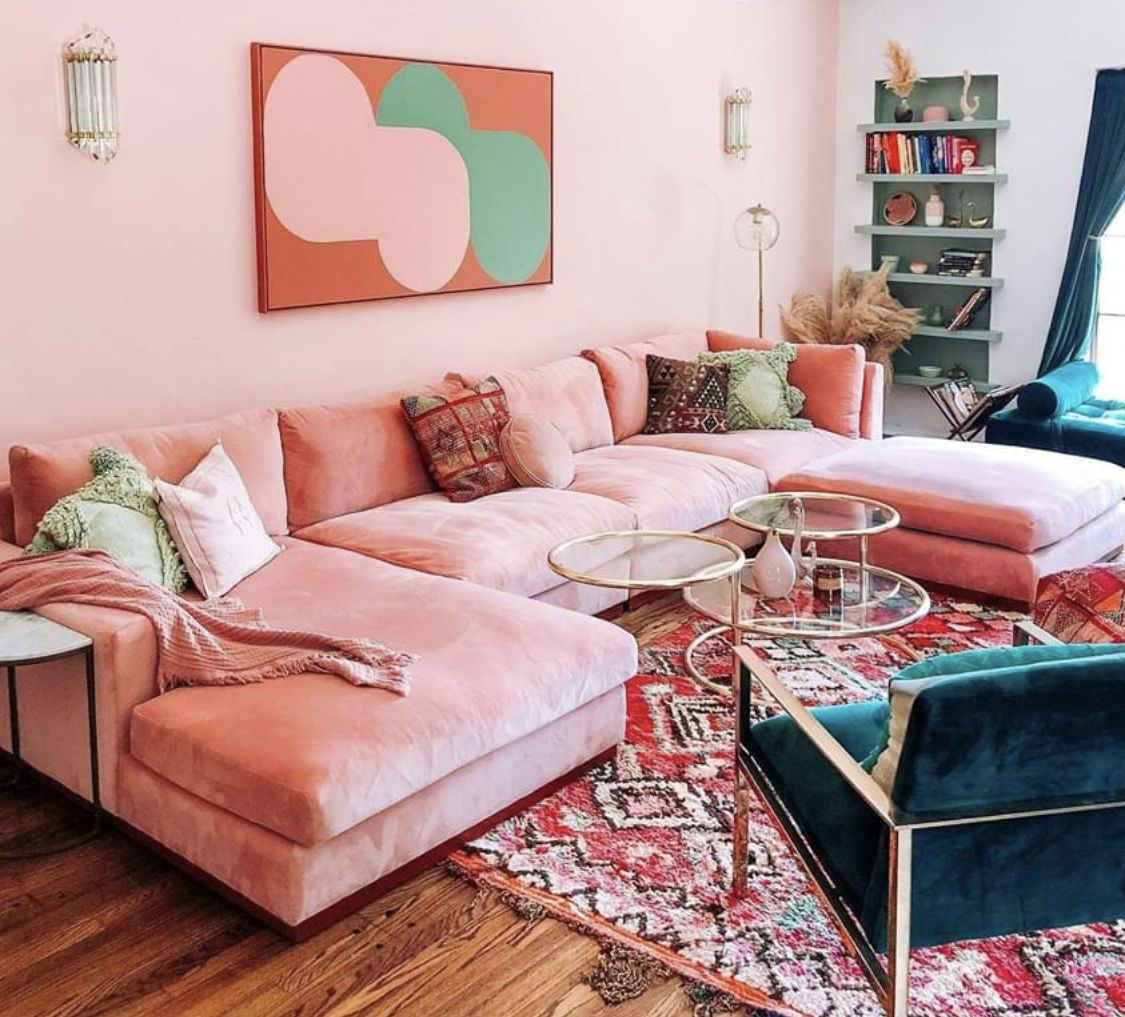 390 Pink Living Rooms Ideas In 2021, Pink Living Room