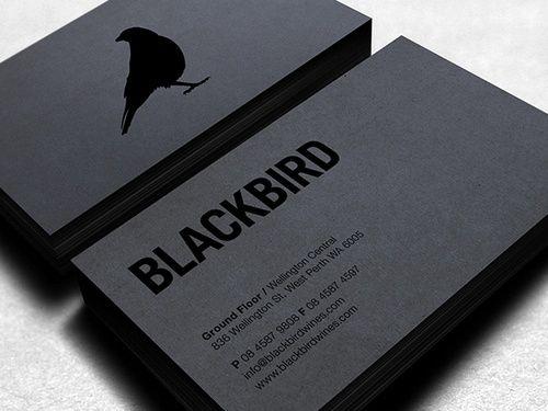 Beautiful business card design. Black on black is always classy ...