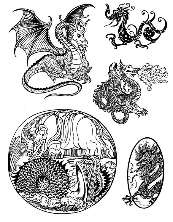 Scrimshaw Designs | Dragon Pattern Page 1