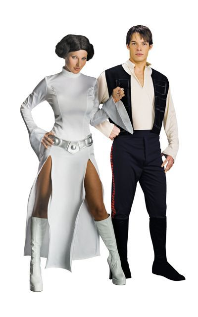 bee2528de16 Sexy Princess Leia and Han Solo Star Wars Couples Costumes - Party ...