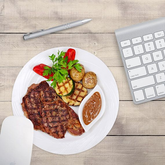 Steak Mouse Pad, Steak Dinner Mouse Pad, Chef's Mouse Pad (0058)