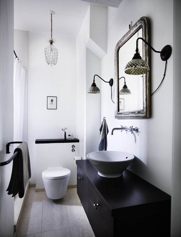bathroom. sconces.
