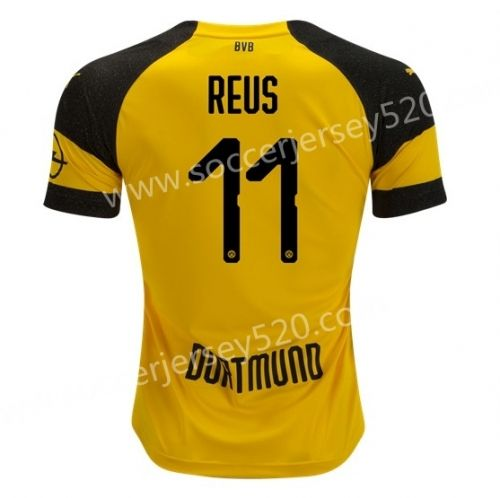 ecc8ef87c67 ... 2018 19 borussia dortmund home yellow 11 reus thailand soccer jersey aaa