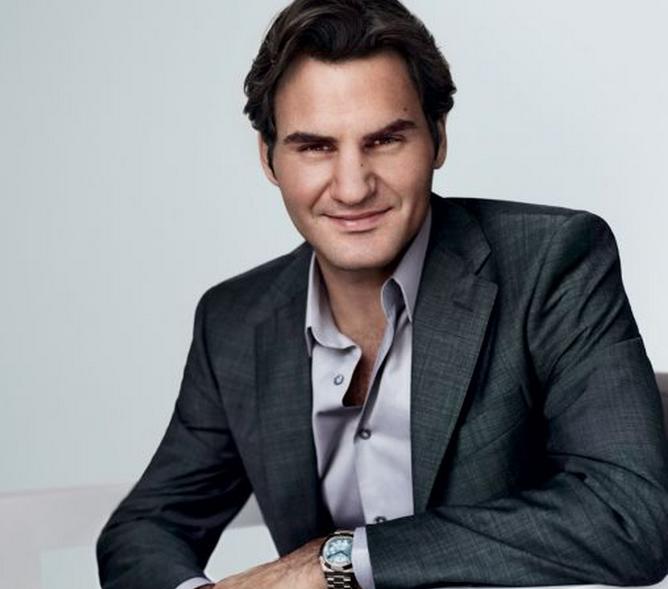 Roger federer wearing a rolex watch celebrities wearing jewelry pinterest rolex watches for Celebrity wearing breitling