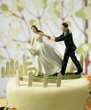 A Race to the Altar Couple Cake Topper. Cute!