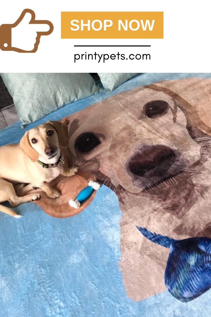 Custom Pet Print Fleece Blanket Puppy Beds Fleece Blanket Pets