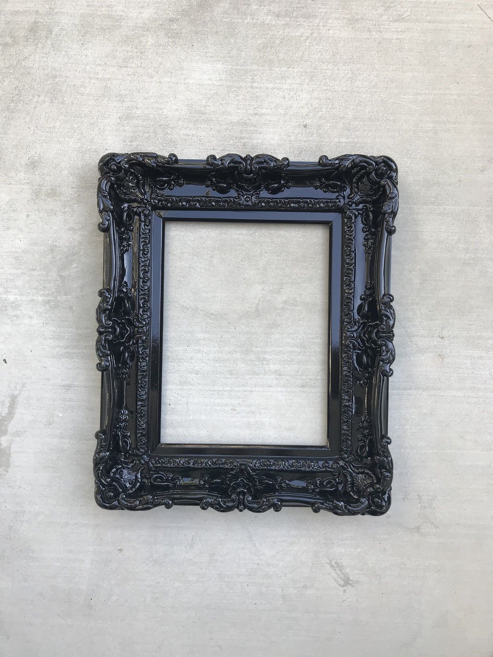 12x16 Black Frame Wall Mirror Frame For Canvas Or Art Paint Etsy Framed Mirror Wall Baroque Frames Ornate Picture Frames