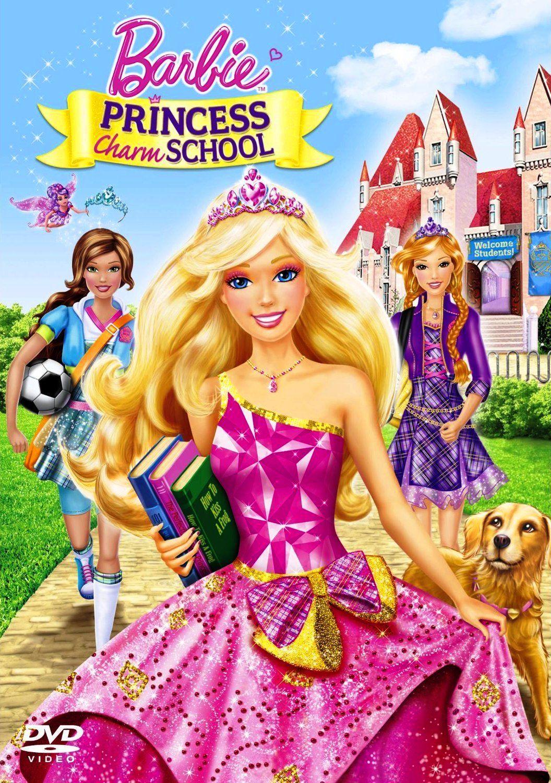 Poster Del Dvd De La Pelicula Barbie En La Escuela De Princesas Princess Charm School Barbie Princess Princess