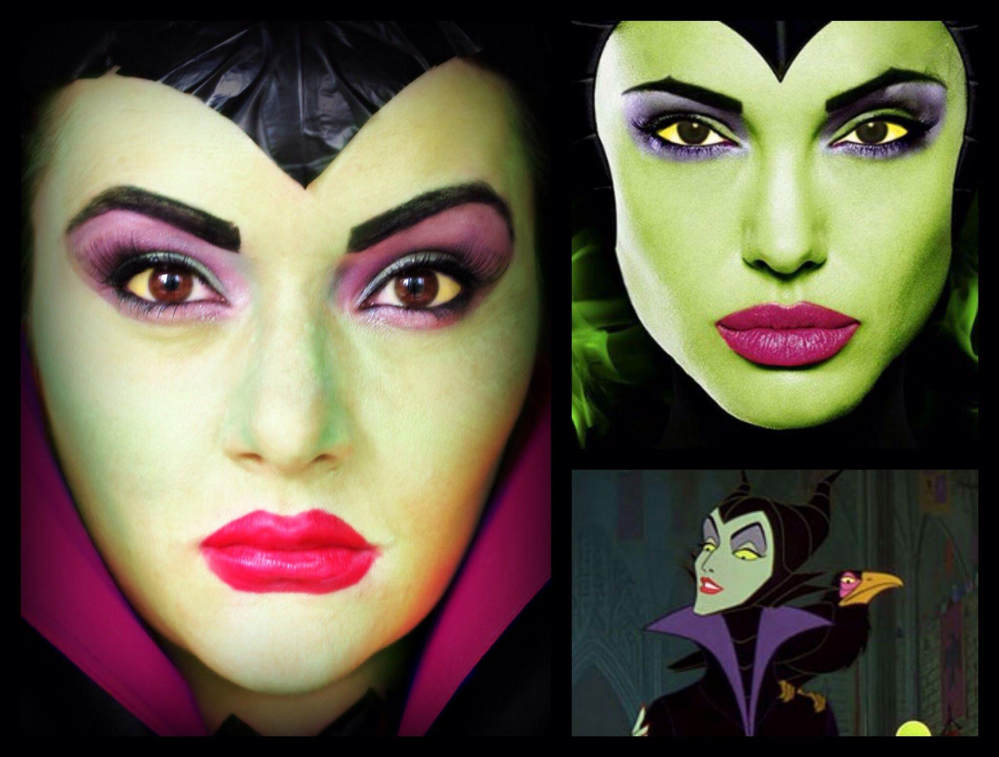 maleficent halloween makeup - evil queen in disney's sleeping beauty