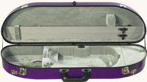 Bobelock #1047F Fiberglass Half Moon Violin Case by Bobelock. $248.00. Ul Li Strong ! /Strong /Li /Ul Ul Li Genuine Fiberglass Case Construction With Suspension /Li Li A Href='Http://Bobelock.Com/Warranty.Html' One Year Manufacturer's Warantee /A /Li Li Padded Cover /Li Li 4.5' Thick, 31 Inches Long, 9.5 Width (6.5Lbs) /Li Li Imitation Leather Handle /Li Li Shoulder Rest Clip /Li Li Shoulder Strap /Li Li Two Bow Holders /Li Li String Tube /Li Li Hygrometer /Li Li Humistat /L...