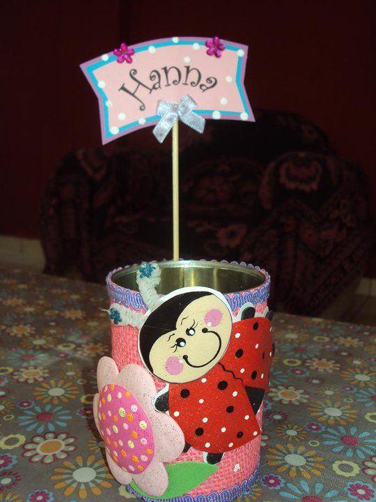 Portalapiceros latas decoradas souvenirs para ni os de for Manualidades souvenirs navidenos