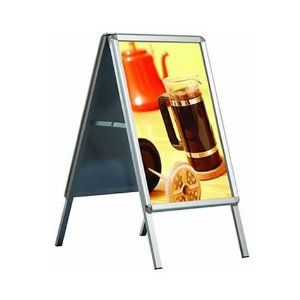 A1 A Board Pavement Sign Clip Frame Water Filled Double Sided Poster OPSDS-A1