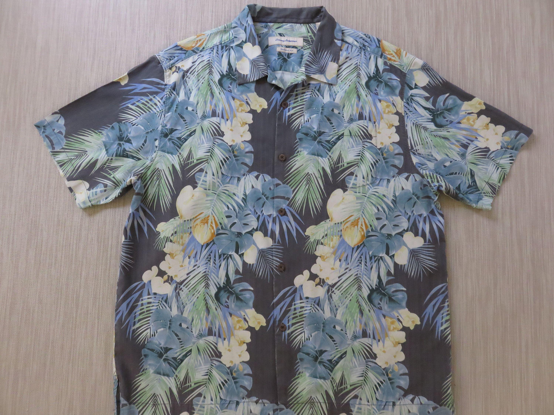 1795c3b72 TOMMY BAHAMA Shirt Hawaiian Shirt Kilauea Volcano Ash Copyrighted Jungle  Print Aloha Shirt 100% Silk Mens Camp - XL - Oahu Lew's Shirt Shack by ...