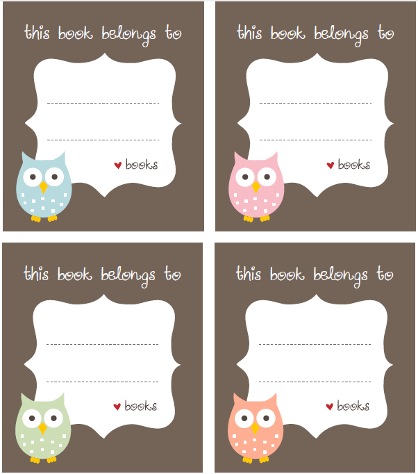 free bookplate label template free printable labels templates