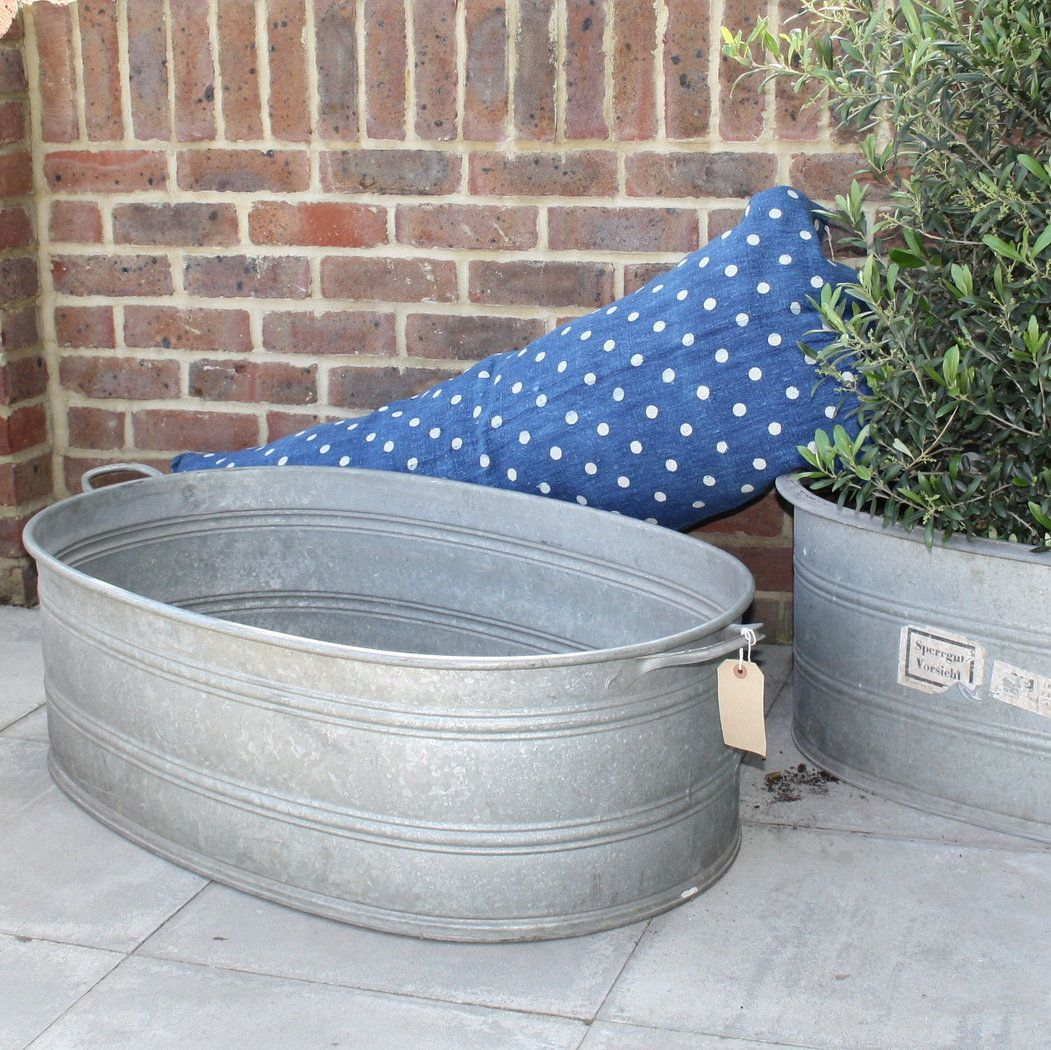 Design Vintage | Large Zinc Planter | Vintage French Tub | sun rooms ...