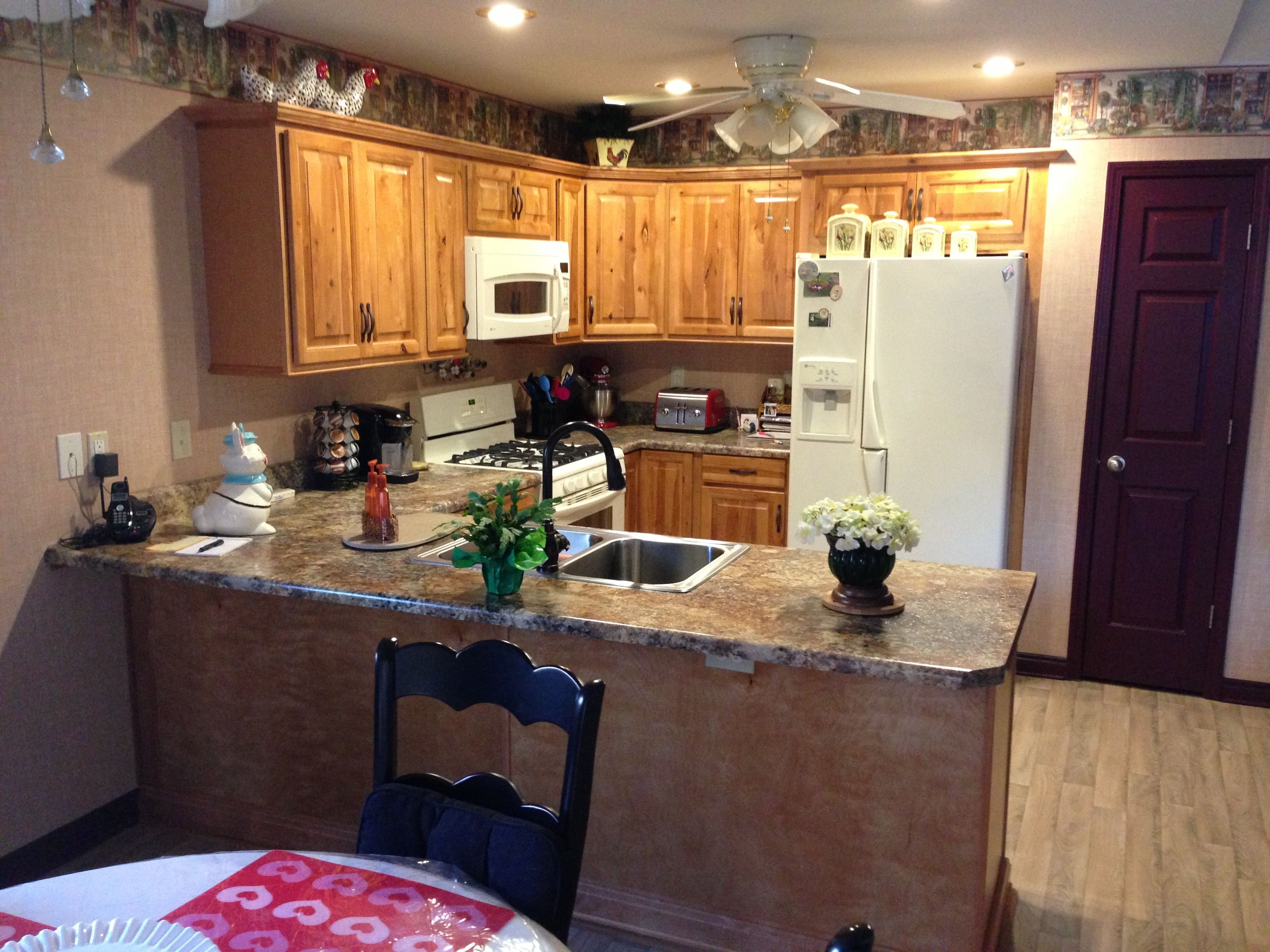 Aristokraft Rustic Birch Kitchen W Formica 180fx High Def Laminate Tops Kitchen Remodels