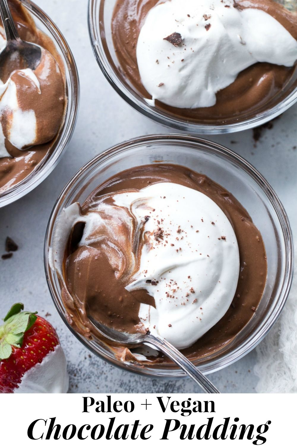 Easy Paleo & Vegan Chocolate Pudding {Dairy-Free}