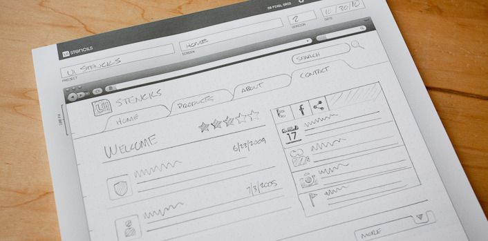 Browser Window Template Sketch Pad For Designing Web Sites 12 95