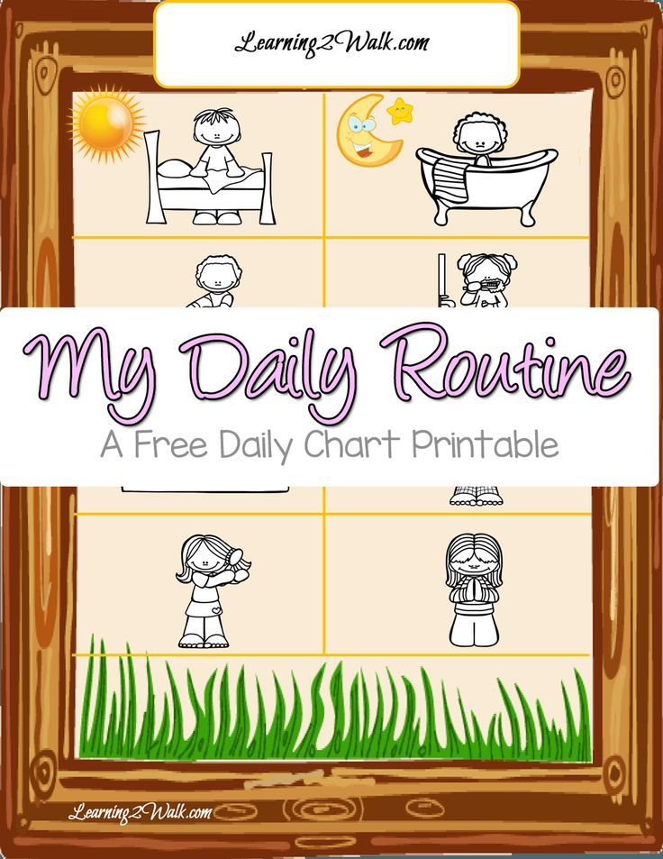 Simple Daily Routine Chart for Kids Routine, Daily routine chart