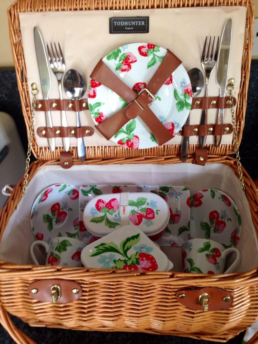 Cath Kidston Strawberry Picnic Basket