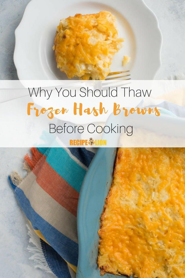 Why You Should Thaw Your Frozen Hash Browns Before Cooking