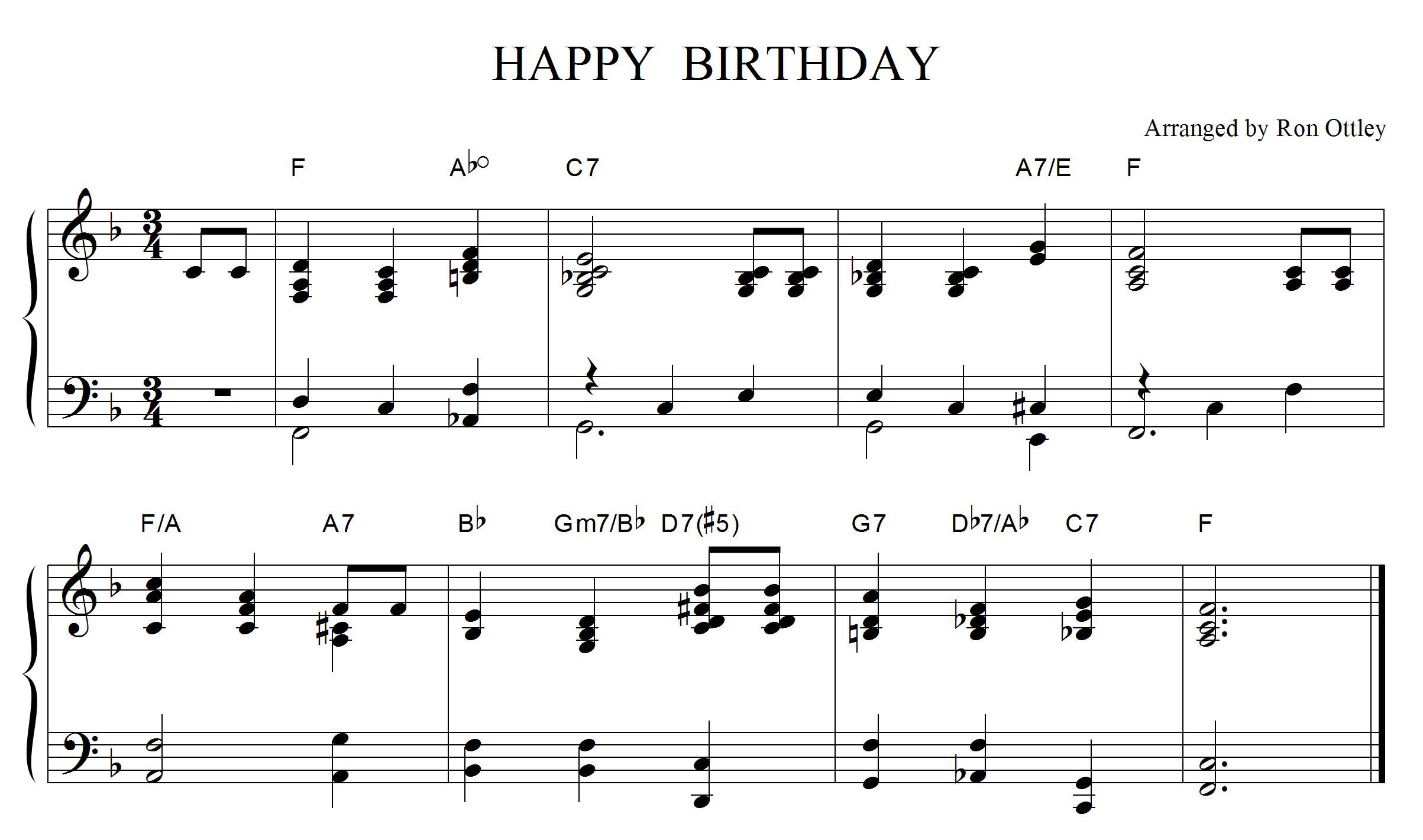 how to play the happy birthday song on piano