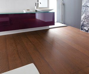 This Handsome Bathroom Floor Is Vulcano Fresco Beech An Engineered Wood Plank Product From Mafi Installing Hardwood Floors Faux Hardwood Real Hardwood Floors