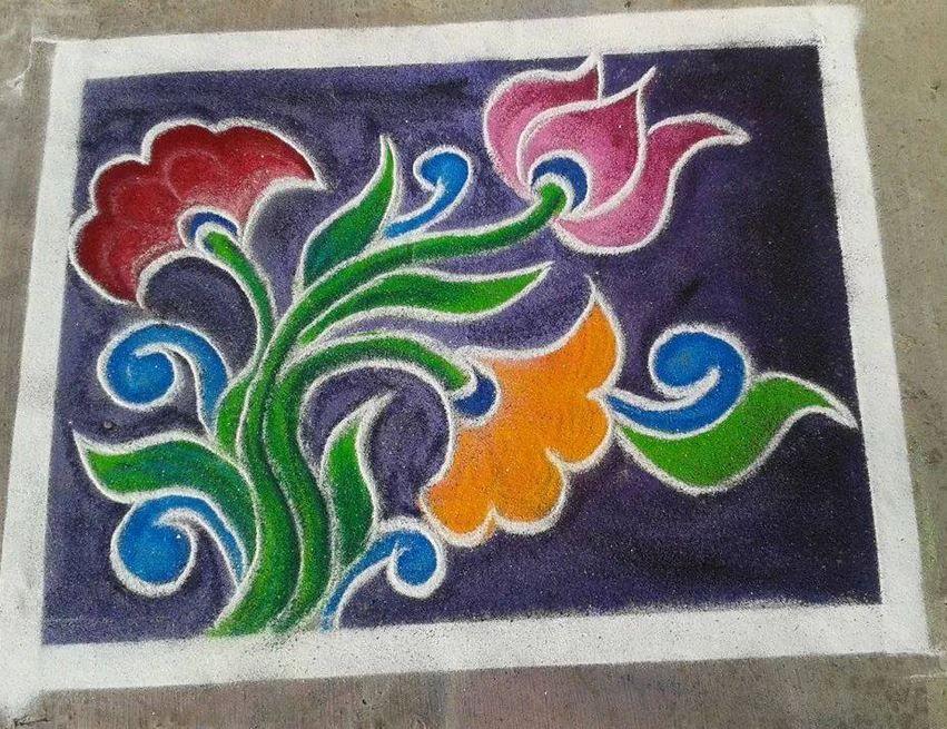 Free Hand Rangoli Designs   Rangoli