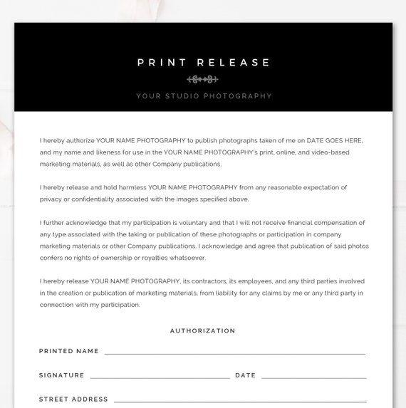 modern black  u0026 white photography print release template