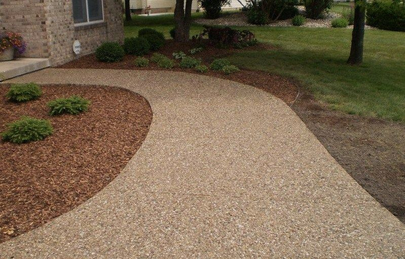 Another Idea For Possible Material We Can Use In The Front Path. Exposed Aggregate  Concrete