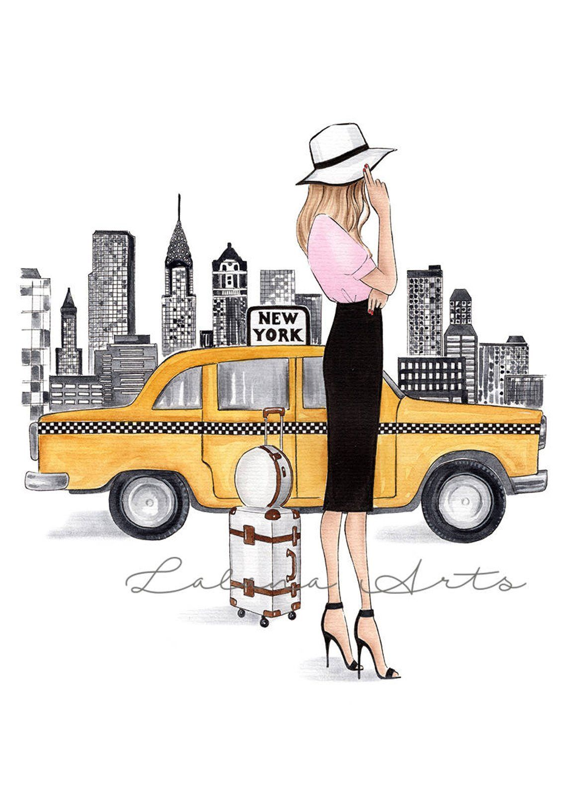 Photo of New York print New York art Fashion Illustration New York wall art Fashion wall art New York Poster NYC art Watercolor fashion Fashionista