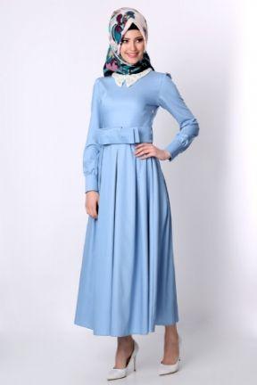 Tesettur Elbise Tozlugiyim Com Tr Fashion High Neck Dress Dresses