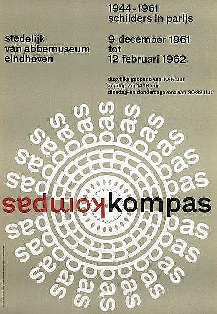Tentoonstellings affiche Stedelijk Museum, Wim Crouwel, 1962