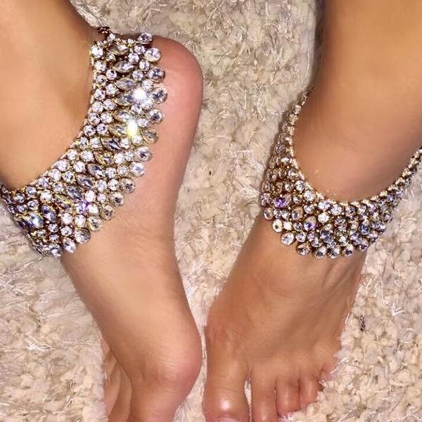 Bollyglam Gold Payal Anklets Ankle bracelets Anklet and Bollywood