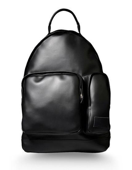 Delectable black leather backpack: Mochila Hombre - KRIS VAN ASSCHE