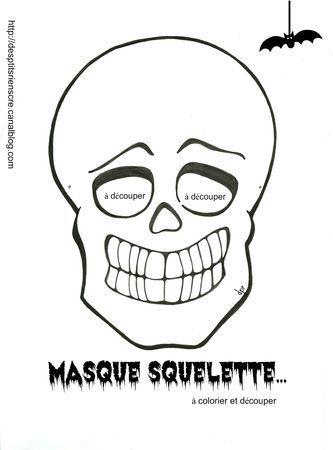 Coloriage Masque Halloween A Imprimer