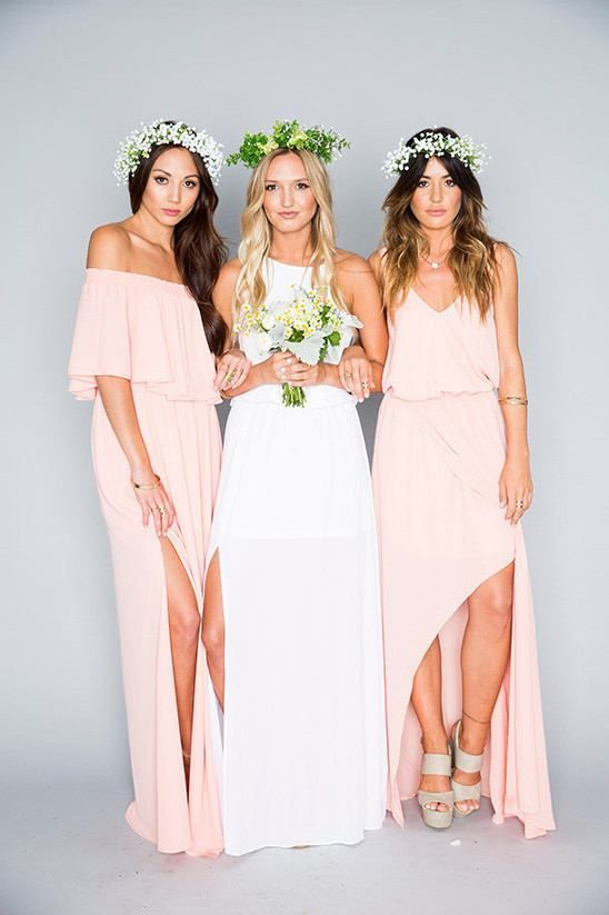 Pink Bridesmaids Dresses Long Floor Length Chiffon Plus Size Bridesmaid Lace Royal Blue Cheap Beach Maid Of Honor Vintage From Aisle Style