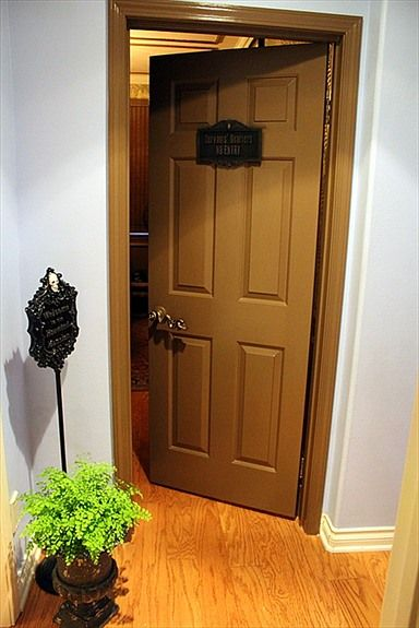 office haunted house ideas. Haunted Mansion Inspired Home Office. Cast Member Plaque From WDW And Serpent Door Handle. Office House Ideas