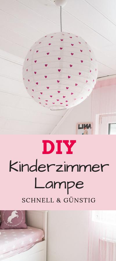DIY für Kinderzimmer Lampe - einfach und günstig #diy #kinderzimmer #deko #basteln