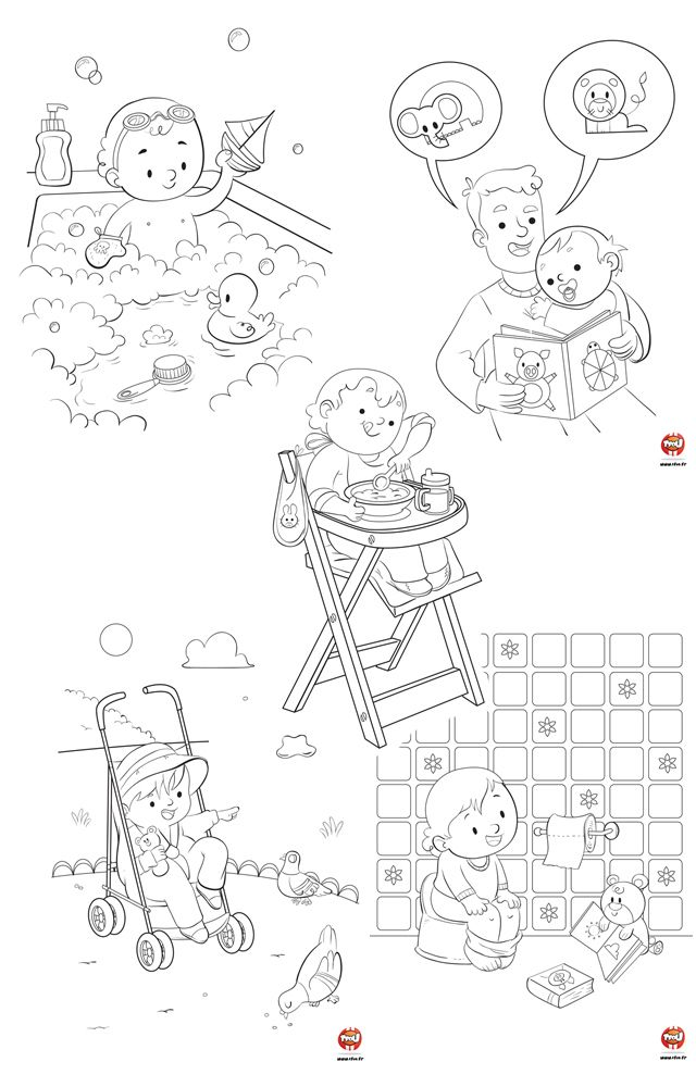 Coloriage Bebe Pinterest Illustrations