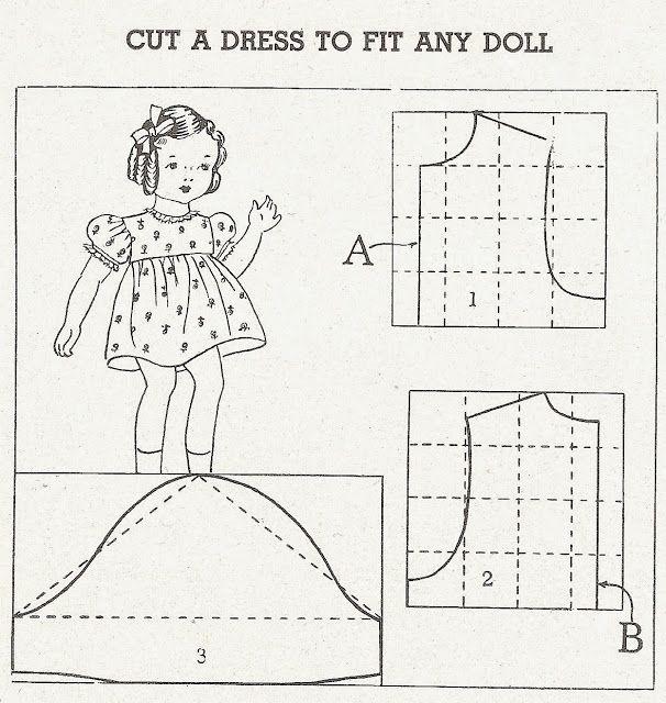 A Dress to Fit Any Doll - Dress, Slip & Panties Patterns #dolldresspatterns