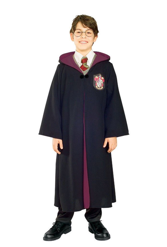 Harry Potter Slytherin Child Hooded Robe with Clasp Costume Cape Cloak Licensed