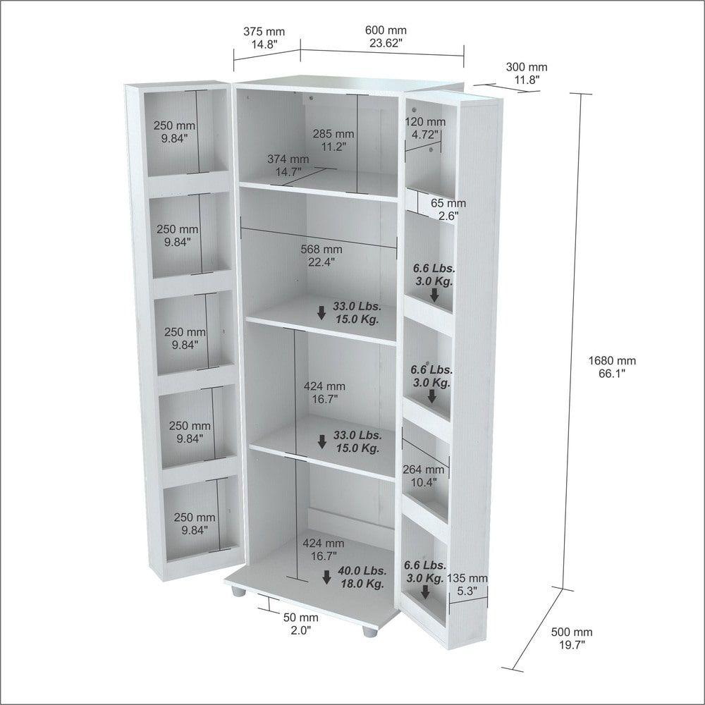 Inval Laricina White Kitchen Storage Cabinet (White