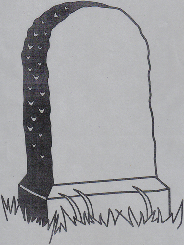 Blank Headstone Template For Writing Character Epitaphs.